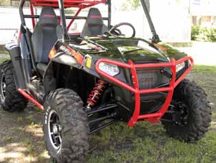 БАМПЕР ДЛЯ КВАДРОЦИКЛА POLARIS RZR900/RZR4-900 QUADRAX ELITE ЧЕРНЫЙ, ПЕРЕДНИЙ (Арт. 15-8475)