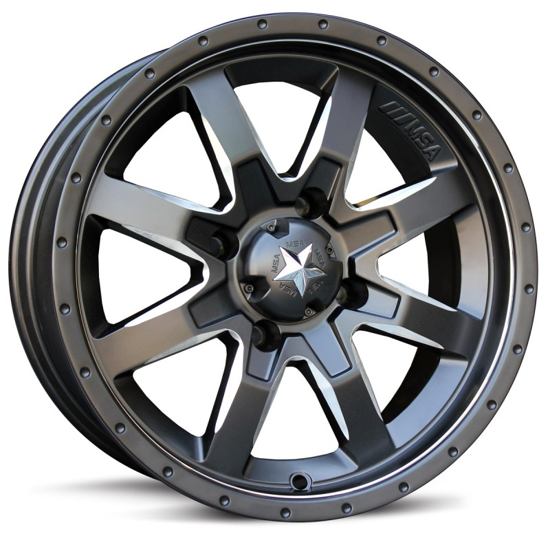 Диски для квадроцикла MSA M25 R14x7, 4x110, +10 mm, Rocker (Flat black/Milled