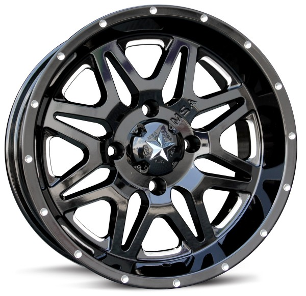 Диски для квадроцикла MSA M26 R14x7, 4x156, +0 mm, Vibe (Black/Milled)