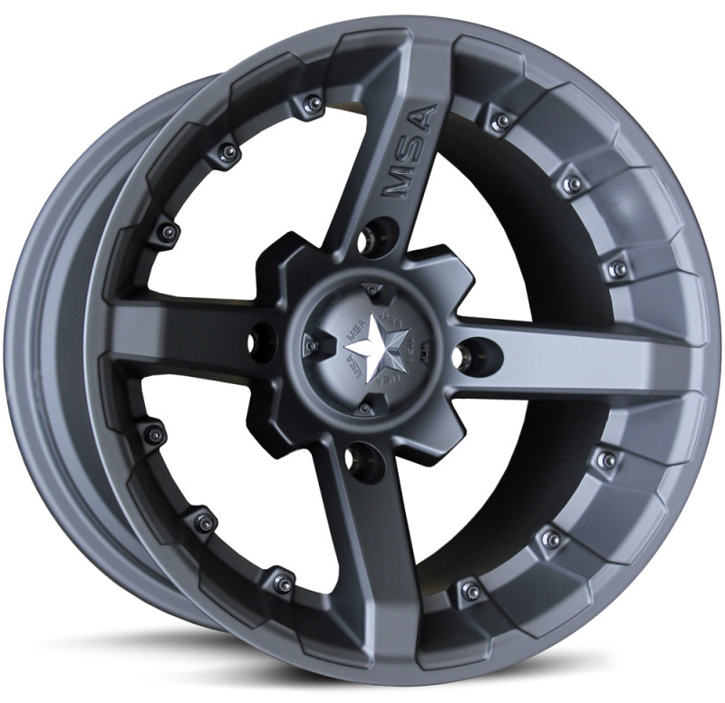 Диски для квадроцикла MSA M23 R14x10, 4x156, +0 mm, Battle (Flat Black)