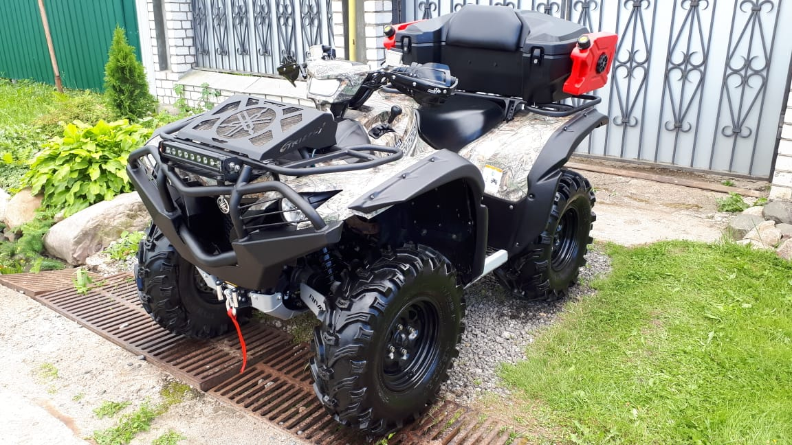 Вынос радиатора Yamaha Grizzly 550/700 (2016-2017) плоский